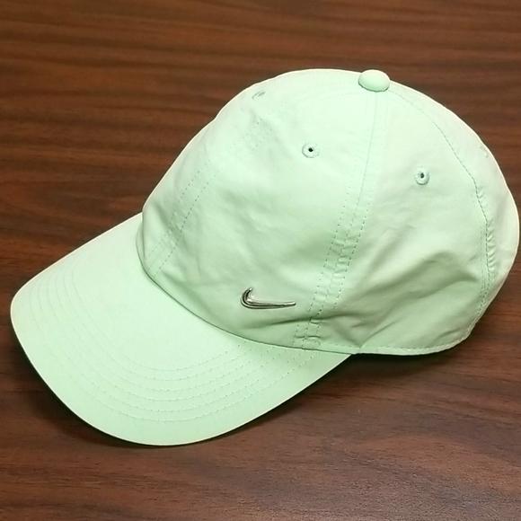 Nike Light Green Ball Cap Silver Swoosh